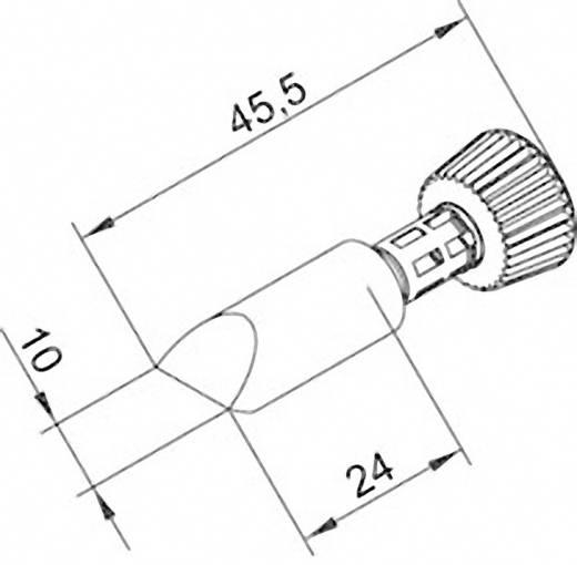 Lötspitze Meißelform Ersa 0102CDLF100/SB Spitzen-Größe 10 mm Spitzen-Länge 45.5 mm Inhalt 1 St.