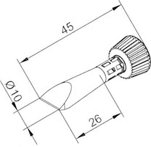Lötspitze Meißelform Ersa 0102CDLF100C/SB Spitzen-Größe 10 mm Spitzen-Länge 45 mm Inhalt 1 St.