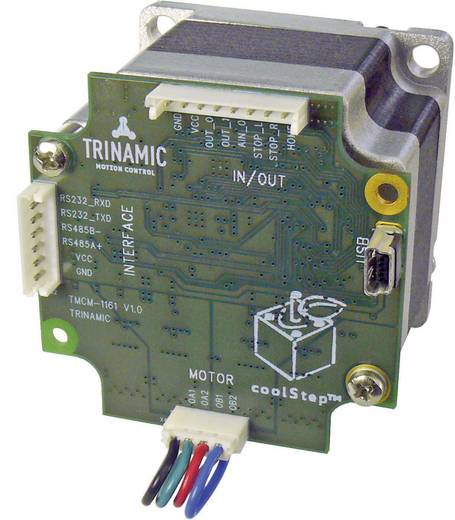 Schrittmotor mit Steuerung Trinamic PD57-1-1161 0.55 Nm Wellen-Durchmesser: 6.35 mm