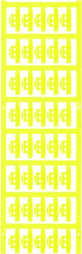 Zeichenträger Montage-Art: aufclipsen Beschriftungsfläche: 21 x 4.10 mm Passend für Serie Einzeldrähte Gelb Weidmüller S