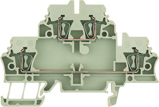 Doppelstock-Reihenklemme ZDK 2.5-2 DB+BR BED OR Weidmüller Inhalt: 50 St.