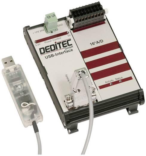 Eingangsmodul Deditec RO-USB-AD16 USB Anzahl analoge Eingänge: 16