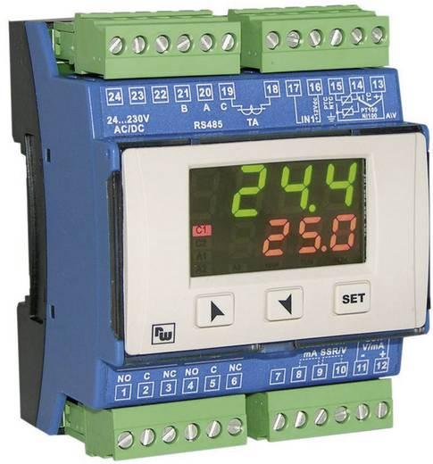 PID Temperaturregler Wachendorff URDR0001 K, S, R, J, Pt100, Pt500, Pt1000, Ni100, PTC1K, NTC10K Relais 5 A, SSR, RS 48