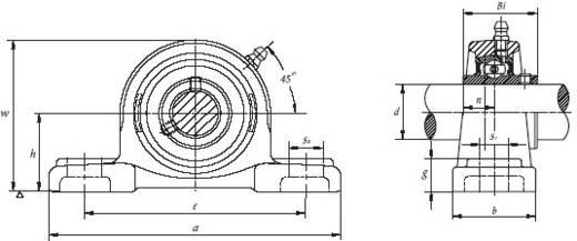 Stehlager UBC Bearing Grauguss UCP 208 Bohrungs-Ø 40 mm Lochabstand 136 mm