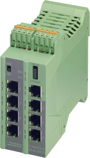Industrieswitch unmanaged Phoenix Contact FL HUB 8TX-ZF Anzahl Ethernet Ports 8 LAN-Übertragungsrate 100 MBit/s Betrieb