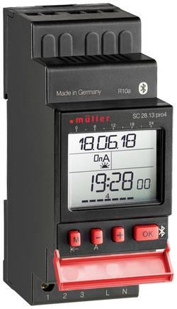 Digitální spínací hodiny na DIN lištu Müller SC 28.23 pro, 230 V/AC