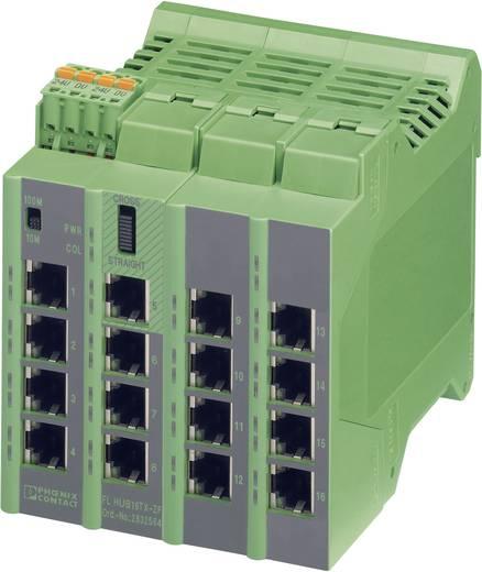 Industrieswitch unmanaged Phoenix Contact FL HUB 16TX-ZF Anzahl Ethernet Ports 16 LAN-Übertragungsrate 100 MBit/s Betriebsspannung 24 V/DC