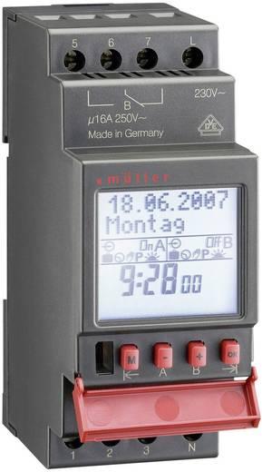 Hutschienen-Zeitschaltuhr digital Müller SC 28.22 pro 230 V/AC 16 A/250 V