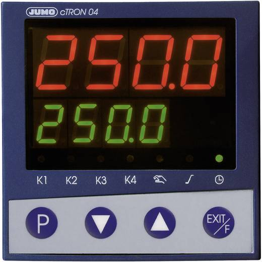 Jumo cTRON04 PID Temperaturregler L, J, U, T, K, E, N, S, R, B, C, D, Pt100, Pt1000, KTY11-6 Relais 3 A, Transistor (L