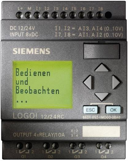 SPS-Steuerungsmodul Siemens LOGO! 12/24RC 6ED1052-1MD00-0BA6 12 V/DC, 24 V/DC