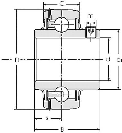 Spannlagereinsatz HTB UC 202 / YAR 202 / GYE 15 KRRB Bohrungs-Ø 15 mm Außen-Durchmesser 28.5 mm