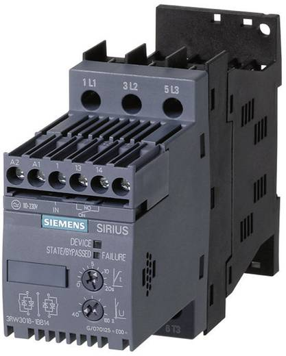 Sanftstarter Siemens 3RW3016 Motorleistung bei 400 V 4.0 kW Motorleistung bei 230 V 2.2 kW 400 V/AC Nennstrom 9 A