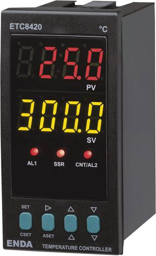 PID Temperaturregler Enda ETC8420 Pt100, J, K, T, S, R Relais 2 A, SSR (L x B x H) 93 x 48 x 96 mm