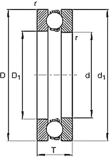 Rillenkugellager axial HTB 51108 Bohrungs-Ø 40 mm Außen-Durchmesser 60 mm Drehzahl (max.) 3800 U/min