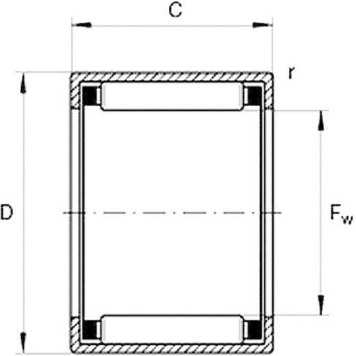 HK-Nadellager HTB HK 2016 Bohrungs-Ø 20 mm Außen-Durchmesser 26 mm Drehzahl (max.) 9000 U/min