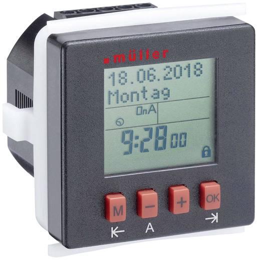 Hutschienen-Zeitschaltuhr digital Müller SC2410pro 230 V/AC 8 A/250 V