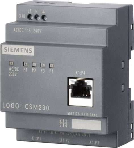 Industrieswitch unmanaged Siemens LOGO! CSM 12/24 Anzahl Ethernet Ports 4 0 LAN-Übertragungsrate 100 MBit/s Betriebsspannung 12 V/DC, 24 V/DC
