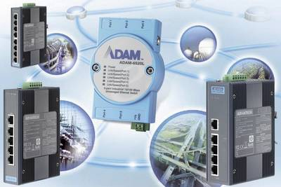 Switch LAN Advantech ADAM-6520L Num. uscite: 5 x 12 V/DC, 24 V/DC, 48 V/DC