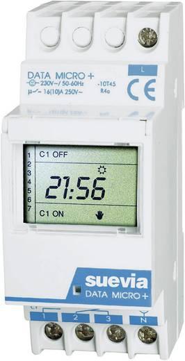 Hutschienen-Zeitschaltuhr digital Suevia Data Micro + 230 V/AC 16 A/250 V