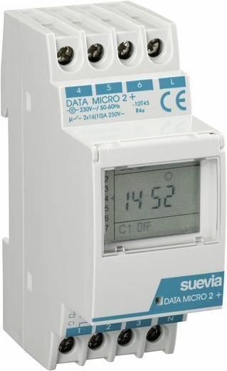 Hutschienen-Zeitschaltuhr digital Suevia Data Micro 2+ 230 V/AC 16 A/250 V