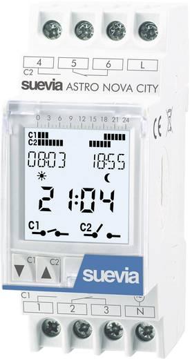 Hutschienen-Zeitschaltuhr digital Suevia ASTRO NOVA CITY 230 V/AC 16 A/250 V