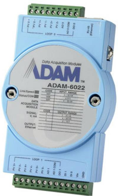 Controller Ethernet Dual-Loop PID Advantech ADAM-6022 12 V/DC, 24 V/DC