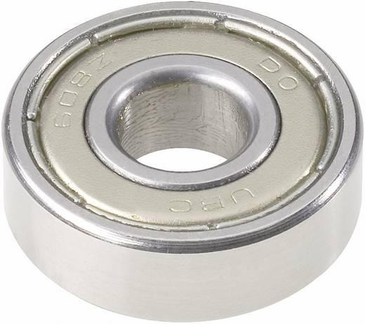 Rillenkugellager Serie 600 UBC Bearing 607 2RS Bohrungs-Ø 7 mm Außen-Durchmesser 19 mm Drehzahl (max.) 22000 U/min