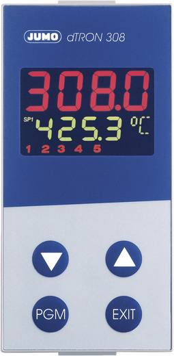 Jumo dTRON 308 (hoch) PID Temperaturregler Pt100, Pt500, Pt1000, KTY11-6, L, J, U, T, K, E, N, S, R, B, C, D -200 bis +2