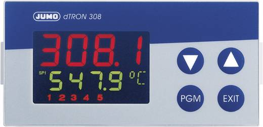PID Temperaturregler Jumo dTRON 308 (quer) Pt100, Pt500, Pt1000, KTY11-6, L, J, U, T, K, E, N, S, R, B, C, D -200 bis +2400 °C Relais 3 A, Analog Strom (L x B x H) 105 x 96 x 48 mm