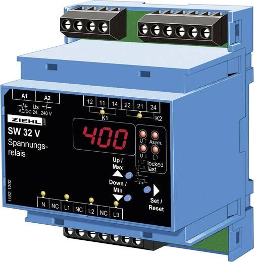 Spannungsüberwachungsrelais Ziehl SW32V Anzahl Relais-Ausgänge: 2