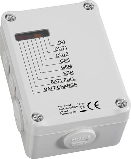 GSM Modul 5 V/DC, 32 V/DC Conrad Components GX107 Funktion: Alarmieren, Schalten