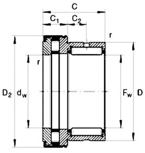 Zylinderrollenlager einreihig Bauform N UBC Bearing NKXR 40 Z Bohrungs-Ø 40 mm Außen-Durchmesser 61.2 mm Drehzahl (max.) 3900 U/min