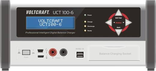 VOLTCRAFT Akku-Ladestation UCT 100-6 Ladestation, Ladegerät UCT 100-6 für NiCd, NiMH, Blei-Säure, Blei-Gel, Blei-Vlies,
