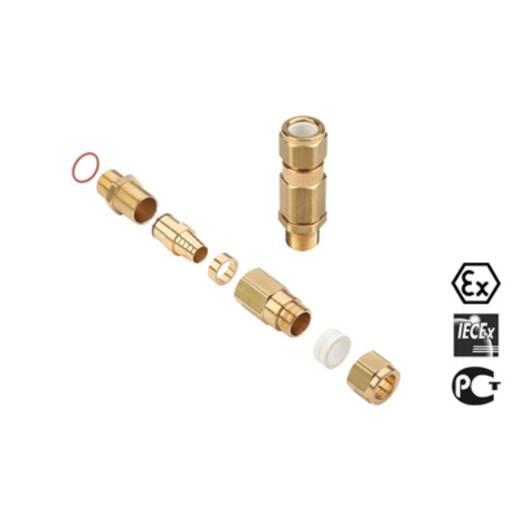 Kabelverschraubung M32 Messing Messing Weidmüller KUB M32 BS O SC 2 G32 10 St.