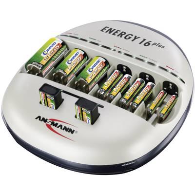 Rundzellen-Ladegerät NiCd, NiMH Ansmann Energy 16 plus Micro (AAA), Mignon (AA), Baby (C), Preisvergleich