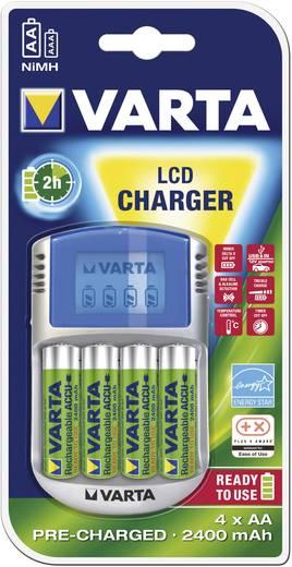 Varta LCD-Lader Rundzellen-Ladegerät NiMH inkl. Akkus Micro (AAA), Mignon (AA)