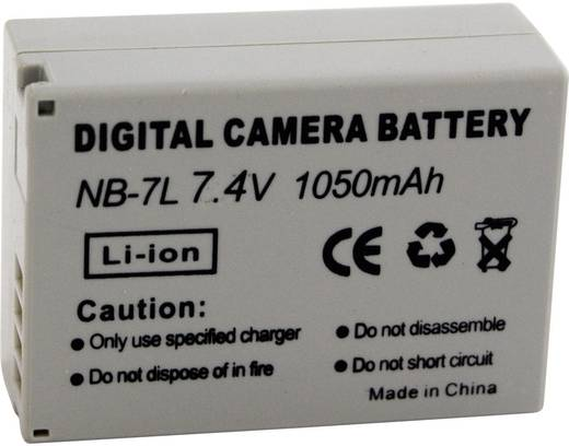 Kamera-Akku Conrad energy ersetzt Original-Akku NB-7L 7.4 V 650 mAh 200268