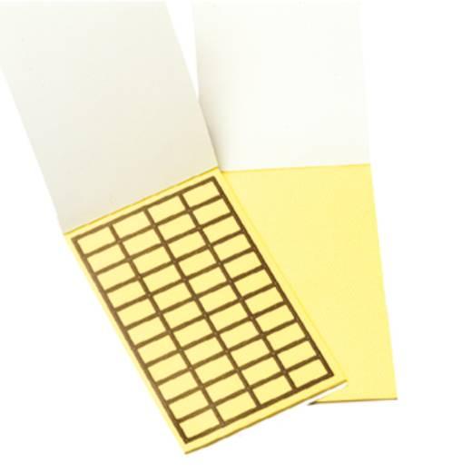 Kabel-Etikett 19 x 11 mm Farbe Beschriftungsfeld: Gelb Weidmüller 1686130000 TABPACK 19X11 M. RAND Anzahl Etiketten: 44