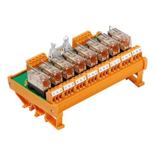 Relaisplatine bestückt 1 St. Weidmüller RSM 8R 24VDC LP GEM.- 1 Wechsler 24 V/DC