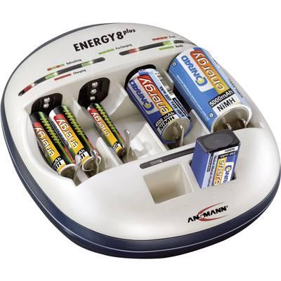 Rundzellen-Ladegerät NiCd, NiMH Ansmann Energy 8 plus Micro (AAA), Mignon (AA), Baby (C),  Preisvergleich