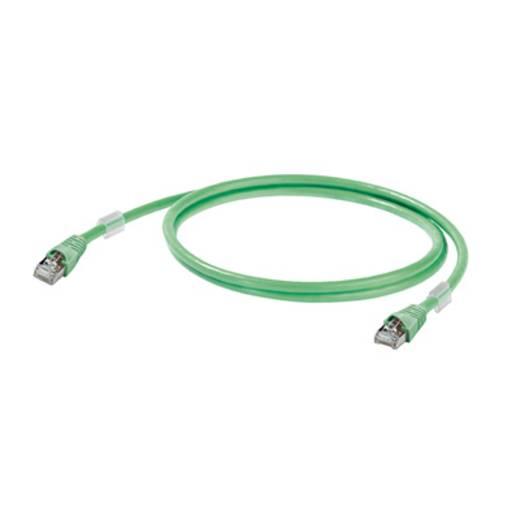 Weidmüller RJ45 Netzwerk Anschlusskabel CAT 5 S/FTP 0.5 m Grün Flammwidrig, mit Rastnasenschutz
