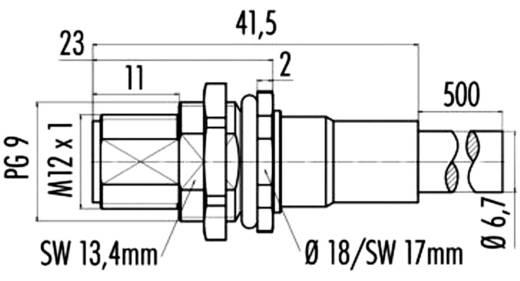 RJ45 / M12 Netzwerk Anschlusskabel CAT 5, CAT 5e S/UTP 0.5 m Grün Flammwidrig, mit Rastnasenschutz Weidmüller