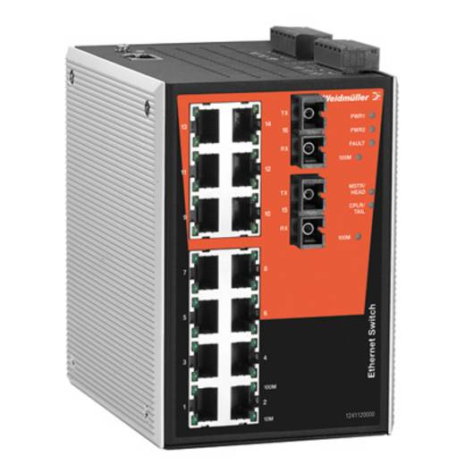 Industrieswitch managed Weidmüller IE-SW-PL16MT-14TX-2SC Anzahl Ethernet Ports 14