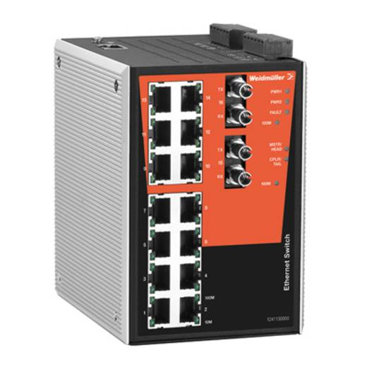 Industrieswitch managed Weidmüller IE-SW-PL16MT-14TX-2ST Anzahl Ethernet Ports 14
