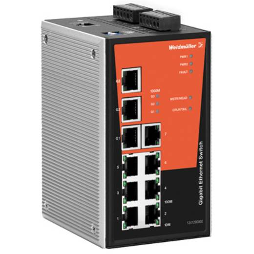Industrieswitch managed Weidmüller IE-SW-PL10M-3GT-7TX Anzahl Ethernet Ports 7