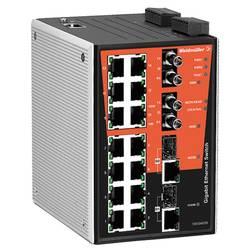 Priemyselný ethernetový switch Weidmüller IE-SW-PL18M-2GC14TX2ST