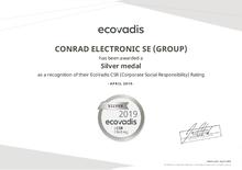 EcoVadis-Zertifikat