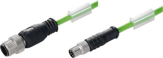 Weidmüller 1296770100 Sensor-/Aktor-Datensteckverbinder, konfektioniert M12 Stecker, gerade, Buchse, gerade 1 m Polzahl: