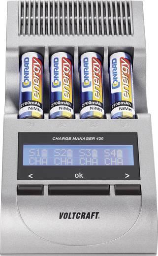 Rundzellen-Ladegerät NiCd, NiMH VOLTCRAFT Charge Manager CM420 Micro (AAA), Mignon (AA)