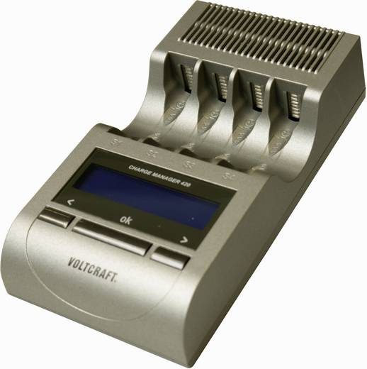 Rundzellen-Ladegerät NiCd, NiMH VOLTCRAFT CM420 Micro (AAA), Mignon (AA)